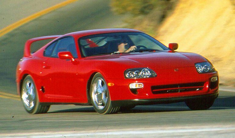1998 toyota supra turbo màu đỏ