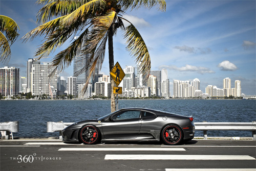 click image to for video of Ferrari F430 on 360 Forged Carob Wheels