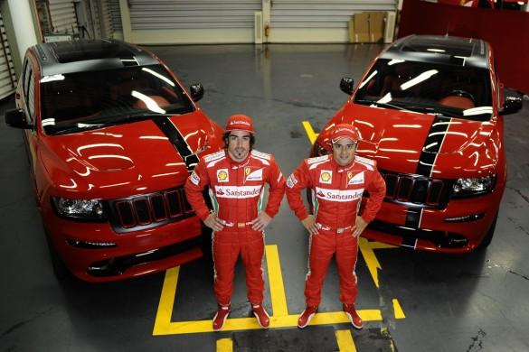 Những ngôi sao Ferrari F1 Alonso Và Massa Lái xe Jeep?