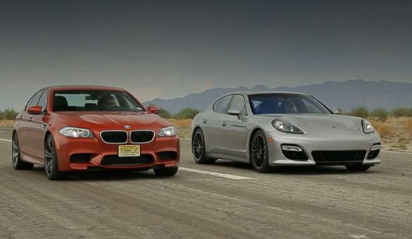 Xu hướng động cơ chạy BMW M5 mới đối đầu với Porsche Panamera GTS: Video