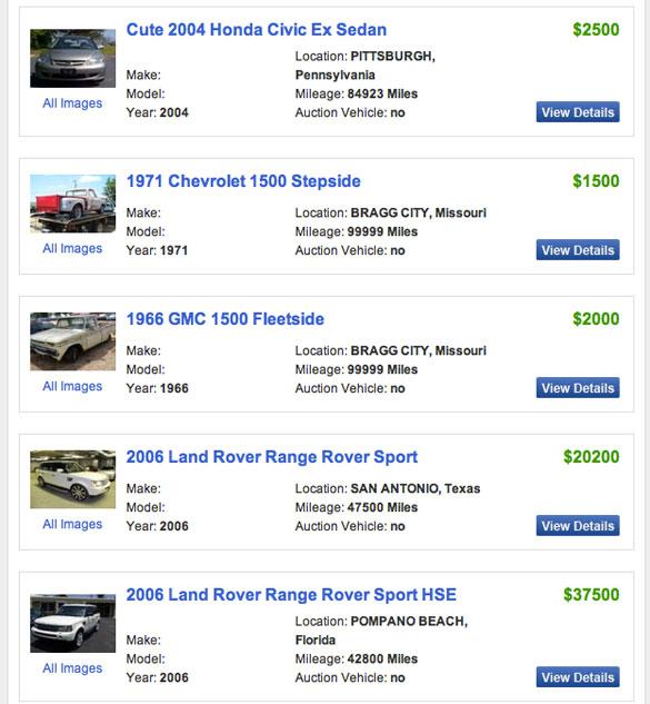 AutomotiveAddicts.com thông báo mục Rao vặt về Xe với Tìm kiếm Xe trên Toàn quốc