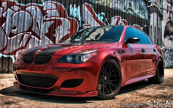 BMW M5 ngồi trên bánh xe Forgiato Maglia 20 inch với bộ phận làm bằng sợi carbon