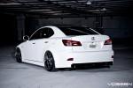 Bạn có thể xuống thấp đến mức nào?  Lexus IS350 w / Hệ thống treo khí trên bánh xe Vossen VVS-084 20 inch