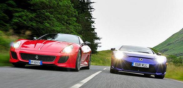 Video: Tạp chí EVO đọ dáng Lexus LFA đấu với Ferrari 599 GTO ở đường chạy tốc độ cao nhất