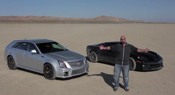 Matt Farah lái chiếc xe Cadillac CTS-V để chạy tốc độ cao nhất