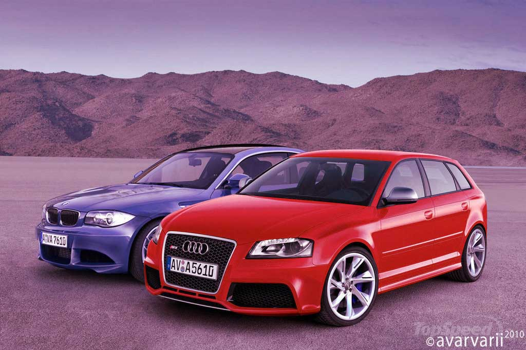 Kết xuất xem trước so sánh: BMW 1 Series M Coupe và Audi RS3
